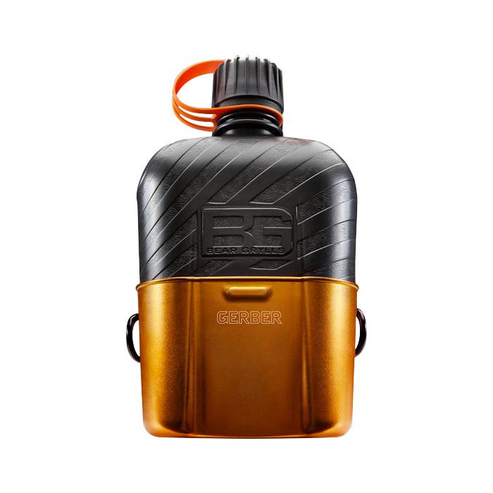 Feldflasche mit Kochgefäss